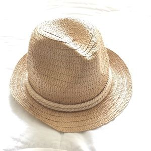 Paper/Poly Rope band Fedora Hat